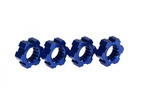 Radmitnehmer, Sechskant, Alu (blau-eloxiert) (4) TRAXXAS XMAXX