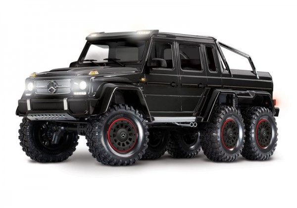 NEU TRAXXAS Mercedes-Benz G63 AMG 6x6 RTR ohne Akku/Lader 1/10 6WD Scale-Crawler Brushed schwarz