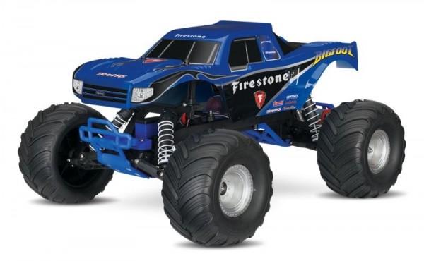 NEU TRAXXAS BIGFOOT Firestone-Edition RTR +12V-Lader+Akku 1/10 2WD Monster Truck Brushed