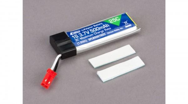 E-flite 1S 3,7V 500mAh 25C LiPo-Akku m. BEC-Stecker