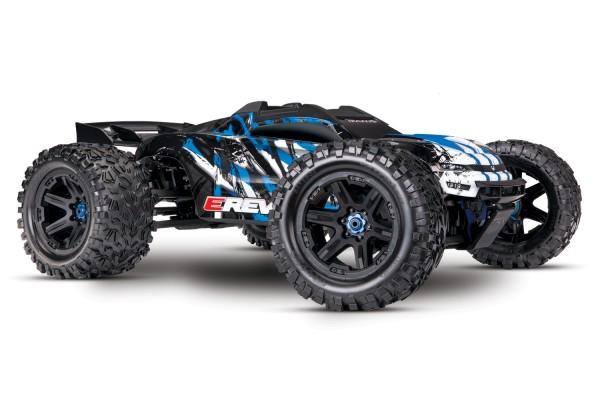 TRAXXAS E-Revo BL 2.0 4x4 VXL BlauRTR ohne Akku/Lader 1/8 4WD Racing Truck Brushless