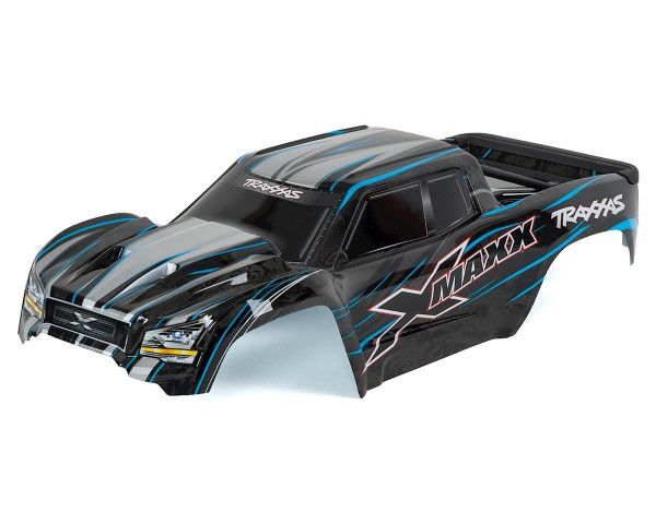 Body, X-Maxx, blau (painted, decals applied) (assembled with