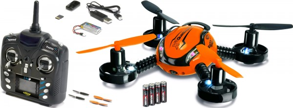X4 Quadcopter SPY SPORT 100 RTF GHz ink.Cam Farbe Orange
