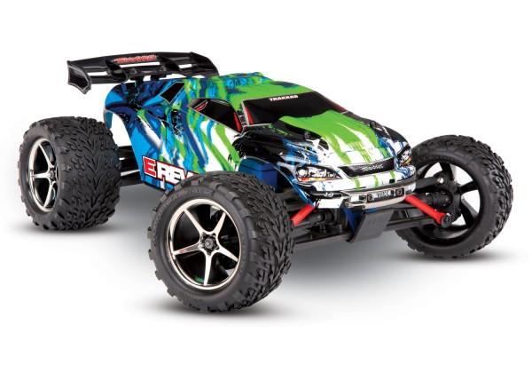 TRAXXAS E-Revo 4x4 grün RTR +12V-Lader+Akku 1/16 4WD Racing Truck Brushed