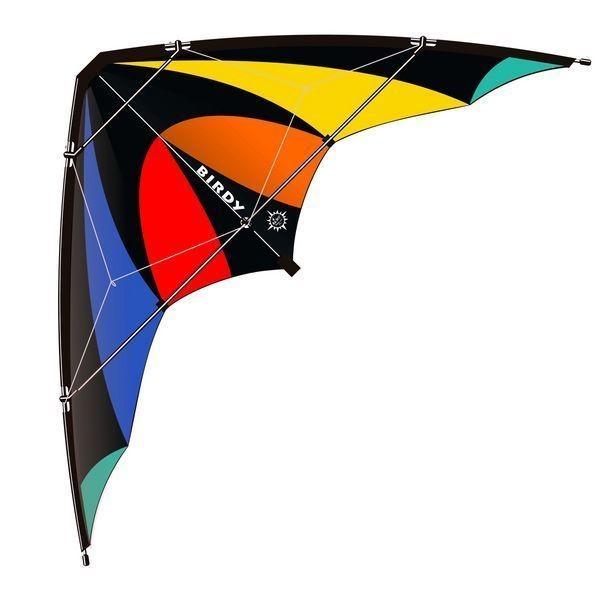 Elliot Birdy - Zweileiner-Lenkdrachen/Stabdrachen (2-Leiner), rtf (flugfertig), 135 cm x 64 cm, Cfk-