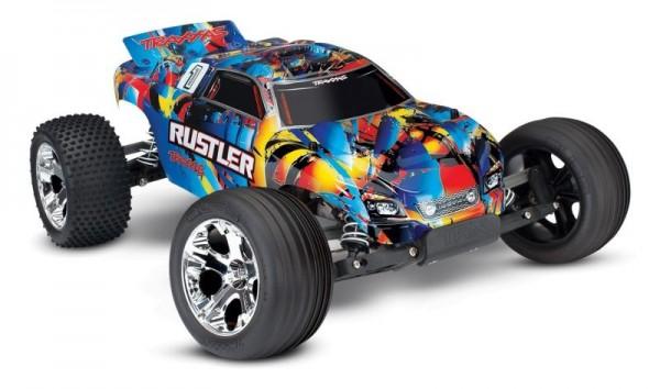 NEU TRAXXAS Rustler RocknRoll RTR ohne Akku/Lader 1/10 2WD Monster Truck Brushed