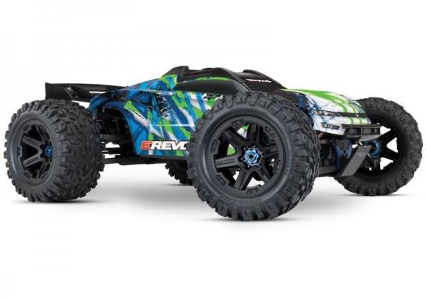 TRAXXAS E-Revo BL 2.0 4x4 VXL grün RTR ohne Akku/Lader 1/8 4WD Racing Truck Brushless