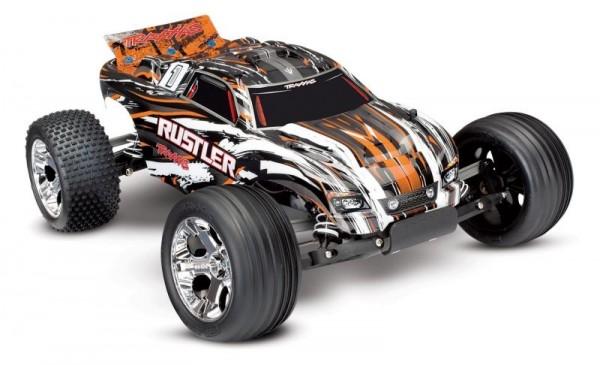 Rustler Orange-X RTR +12V-Lader+Akku 1/10 2WD Monster Truck Brushed