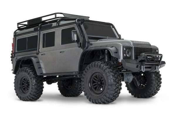 Traxxas TRX-4 Landrover Defender Crawler im Maßstab 1:10 silber RTR ohne Akku/Lader