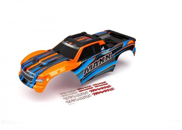 Karo Maxx orange lackiert + Decal Sheet TRAXXAS