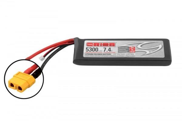 Team Orion LiPo 5300 2S 7,4V 50C XT60 m. LED Kontrollllampe