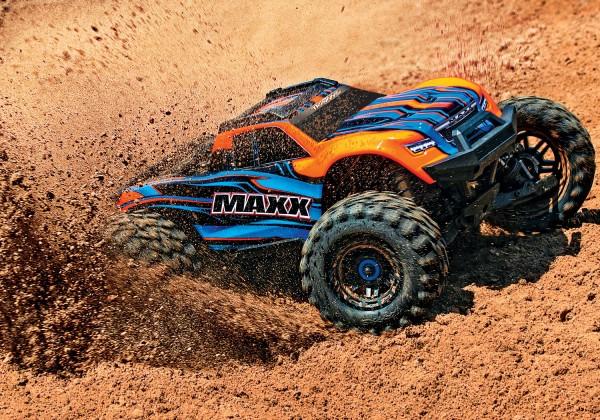 NEUER TRAXXAS MAXX 1:10 RTR TSM SR VXL-4S Regler ohne Akku/Lader 1/10 Monster-Truck Brushless orange