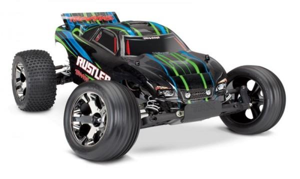 NEU TRAXXAS Rustler VXL grün BL ohne Akku/Lader 1/10 2WD Stadium Truck Brushless