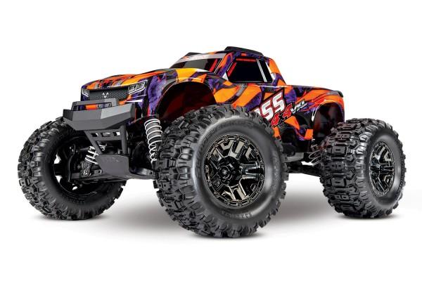 NEU TRAXXAS HOSS 1:10 RTR TSM SR VXL-3S Regler ohne Akku/Lader 1/10 Monster-Truck Brushless orange