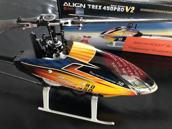 T-REX450 PRO FBL +HC3-Xbase+Roxxy, Chassis verbaut, siehe Bilder