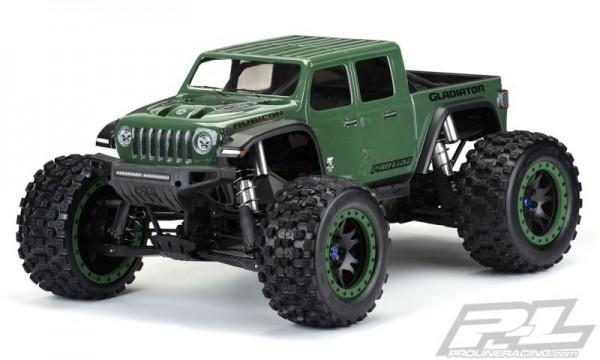 ProLine Jeep Gladiator Rubicon Karo klar_unlackiert Pre-Cut für X-MAXX