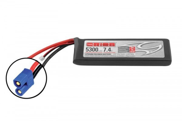 Team Orion LiPo 5300 2S 7,4V 50C EC3 m. LED Kontrollllampe