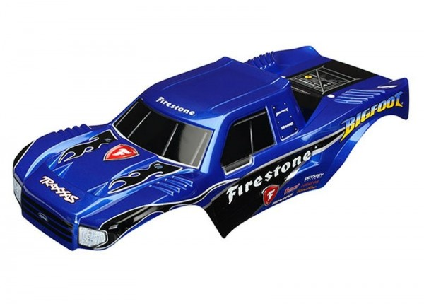 Karosserie BIGFOOT Firestone lackiert + Aufkleber TRAXXAS Officially Licensed Replica